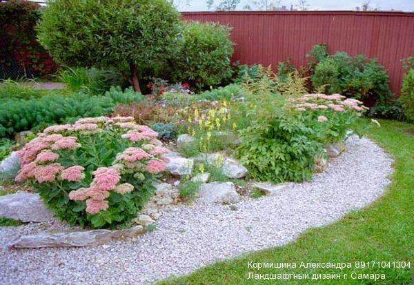 Дизайна требует ровных площадей сада